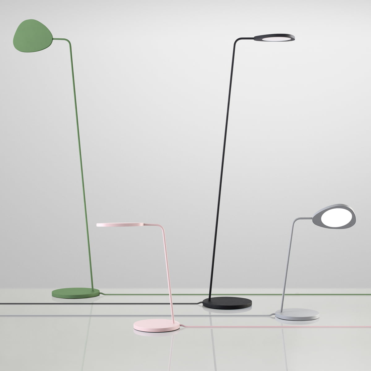 The muuto leaf floor lamp in the interior design shop muuto leaf table and floor lamp group aloadofball
