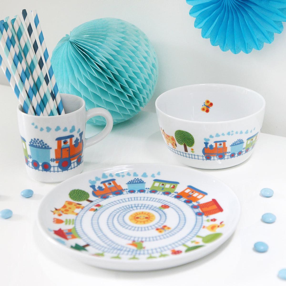 children 39 s dishes train from bygraziela. Black Bedroom Furniture Sets. Home Design Ideas
