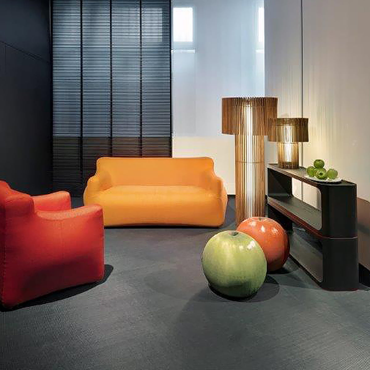 Baleri Italia - Tatino Eva seating ball (green apple) & Tatino by Baleri Italia in our interior design shop