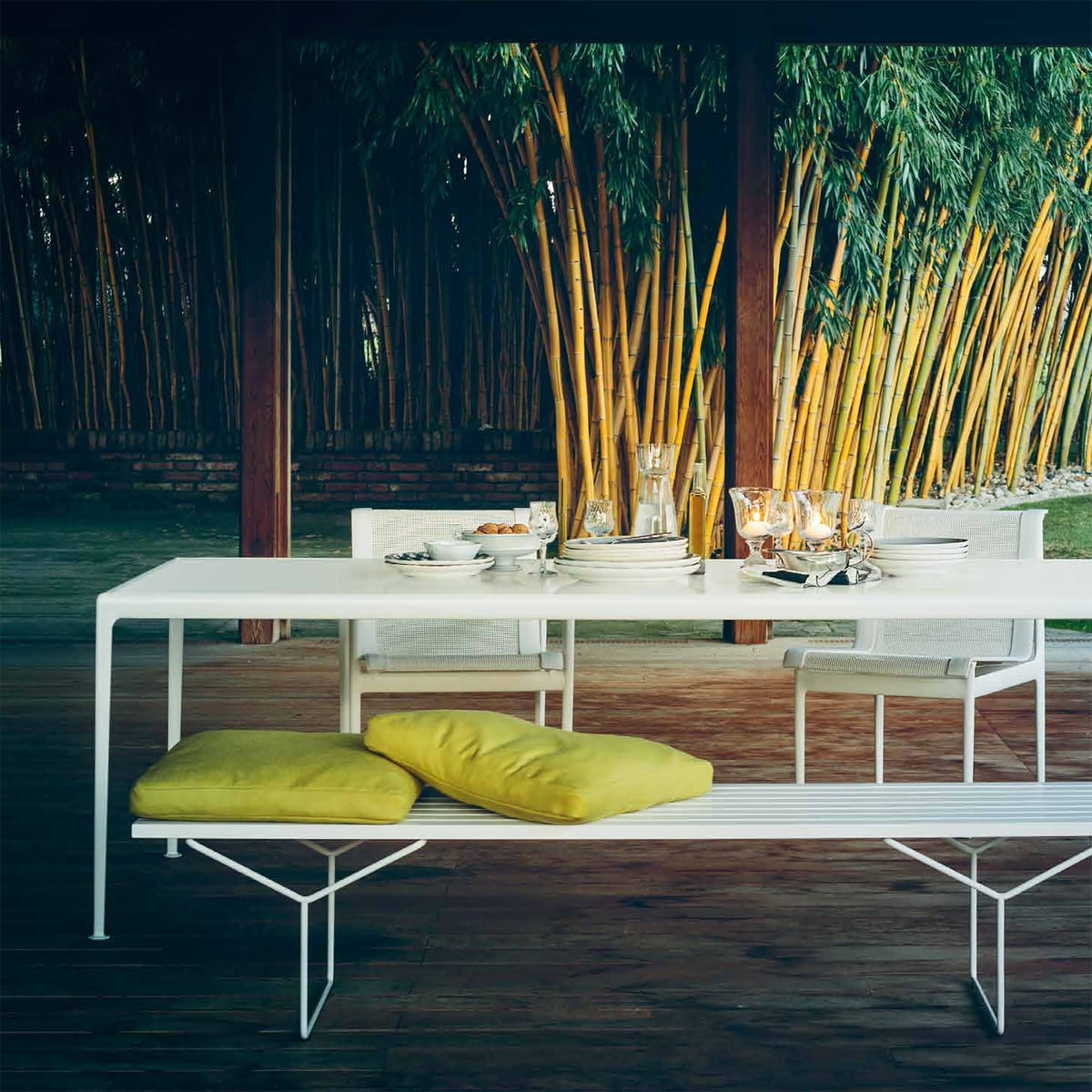 The Bertoia Outdoor Bench By Knoll