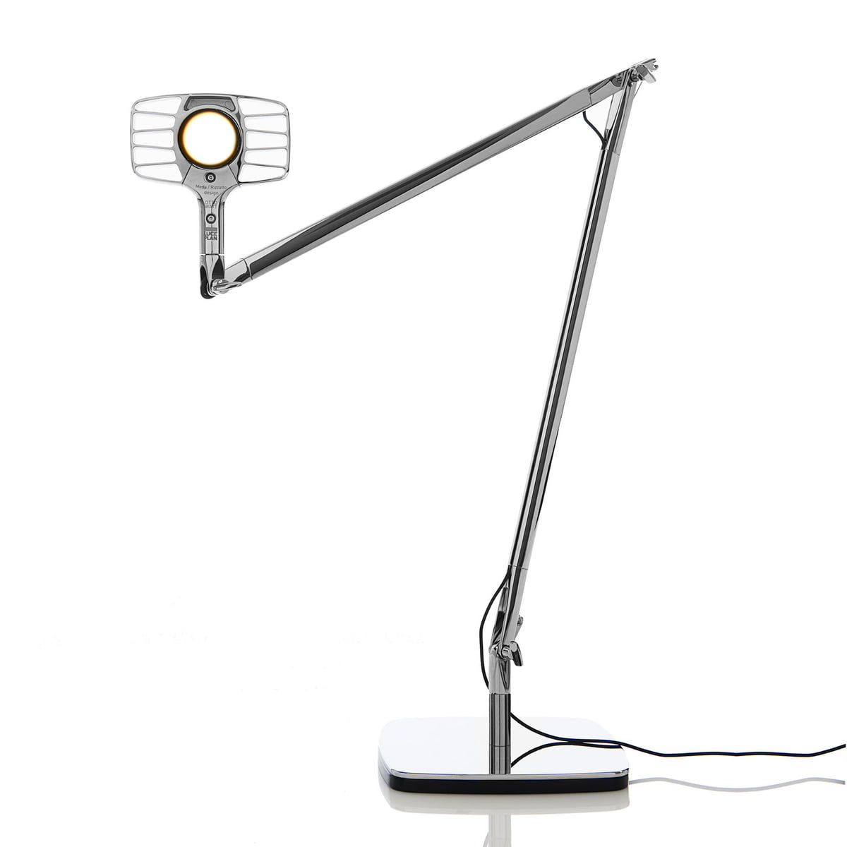 The otto watt desk lamp from luceplan luceplan otto watt desk light silver mozeypictures Image collections