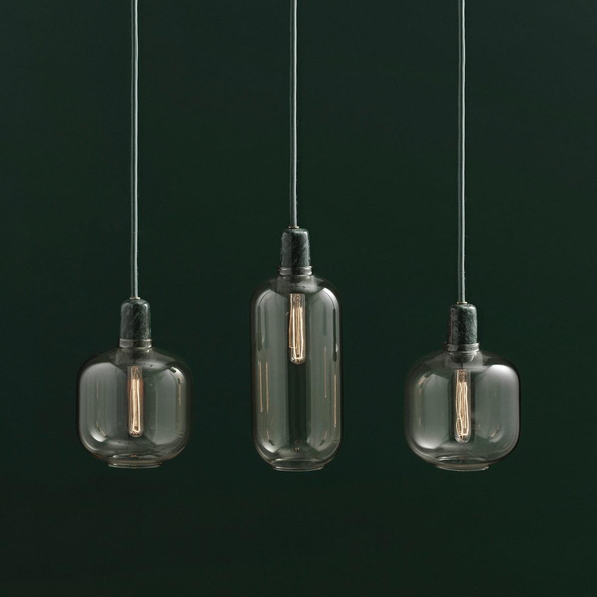 Amp pendant lamp by normann copenhagen normann copenhagen amp pendant luminaire gold green group aloadofball Gallery