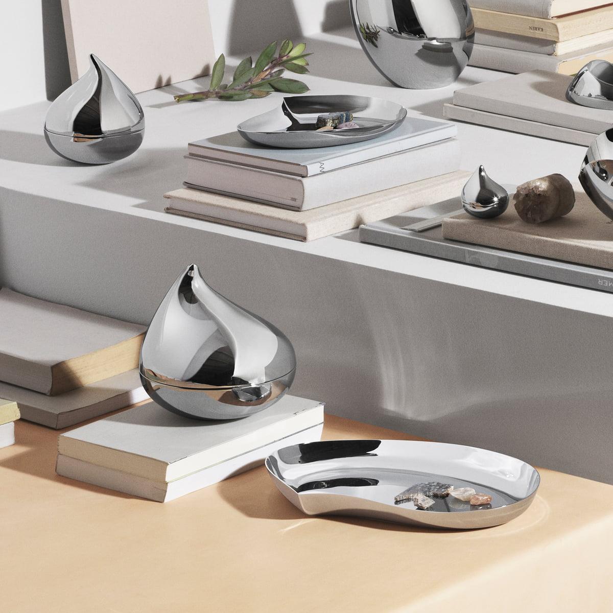 8b6b0d241db0 ... Flatware Set Matte Stainless. Georg Jensen Bloom Tray Stainless Steel  Bloom Tray Von Georg Jensen In The