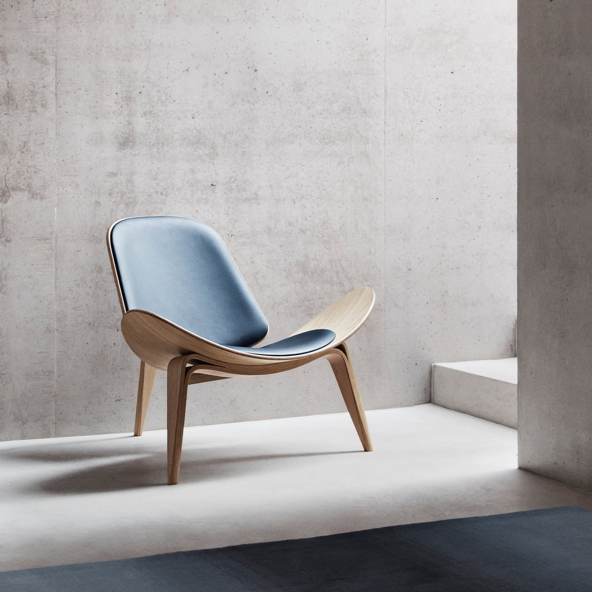 white chair at sale shell and in blue vintage pamono for