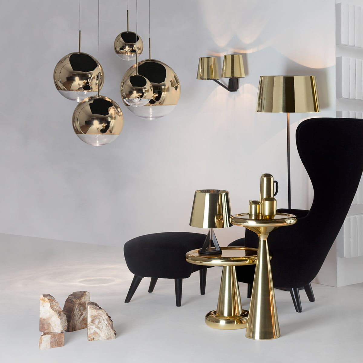 Mirror ball gold pendant light by tom dixon tom dixon mirror ball gold pendant lamp aloadofball Choice Image