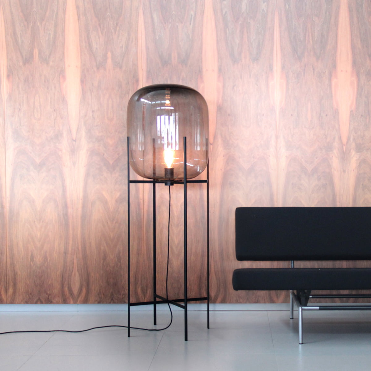 Oda Floor Lamps In Glass Sebastian Herkner For Pulpo : The large oda lamp by pulpo in