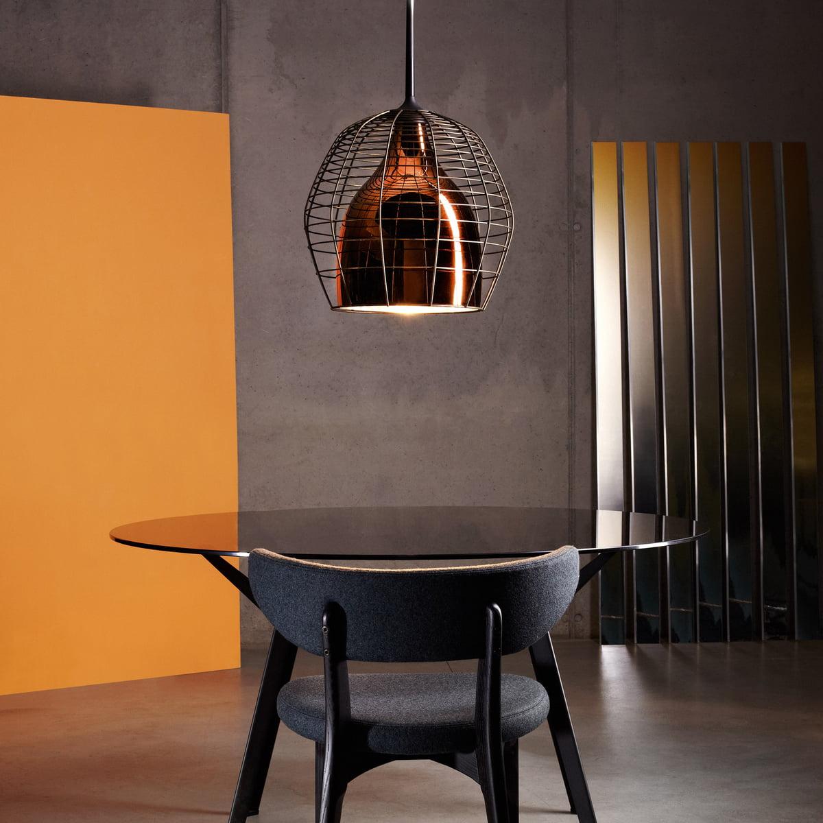 Sel Living Cage Pendant Light Large Bronze Black