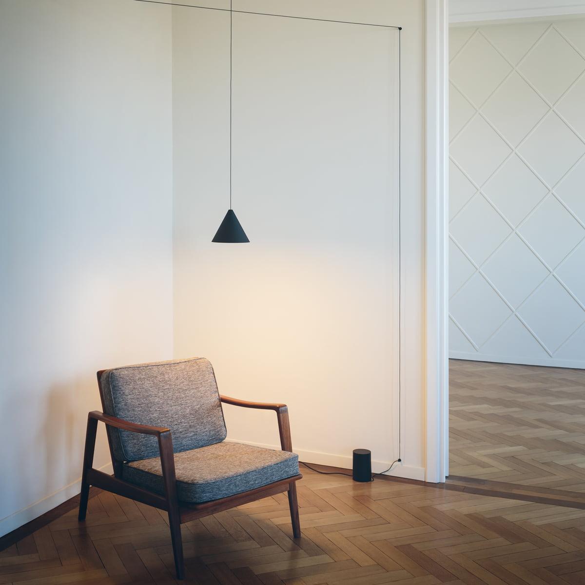 flos string light pendant lamp conical head