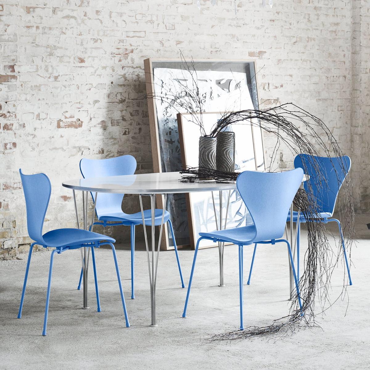 Bon The Fritz Hansen Series 7 Chair, Trieste Blue