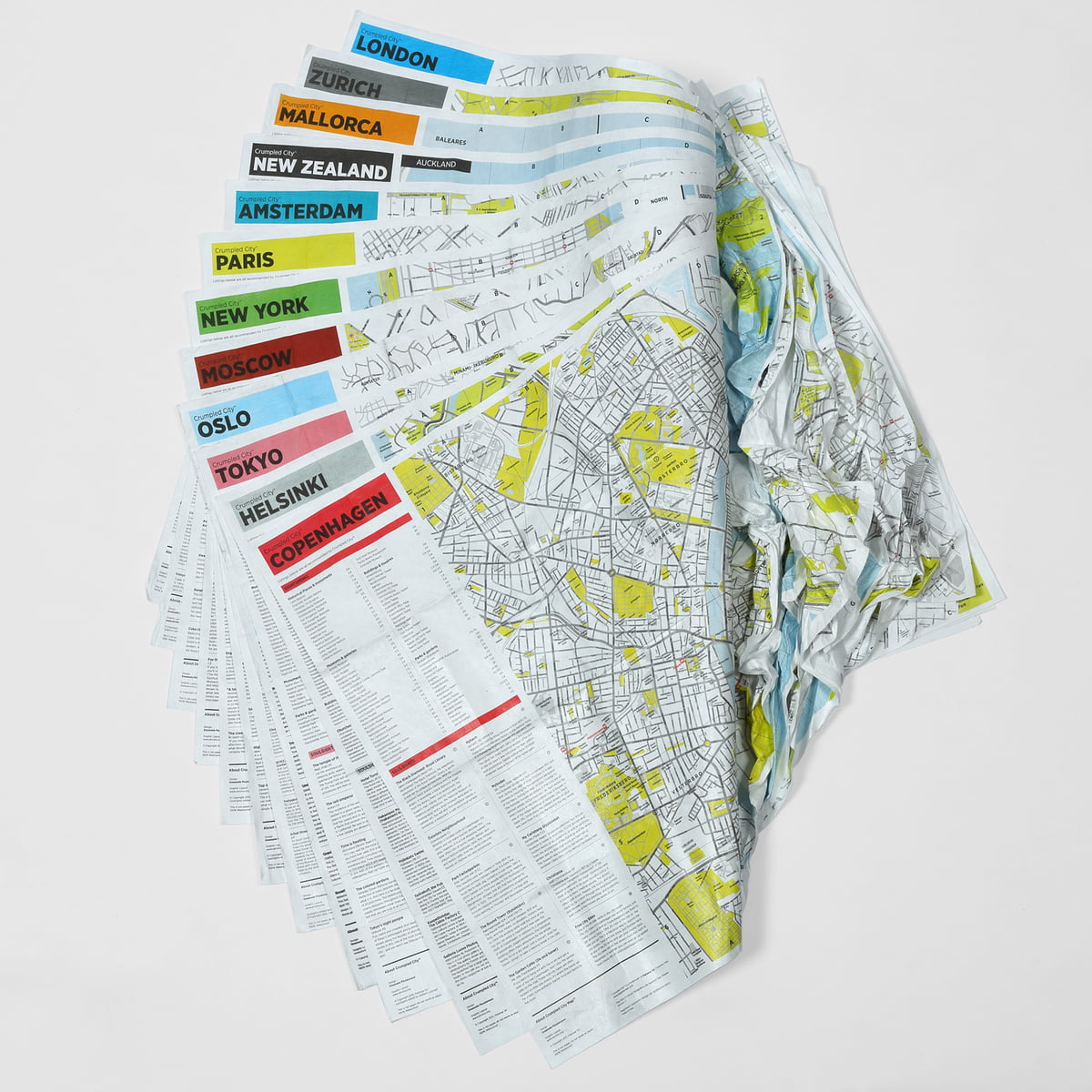 crumpled city map by palomar in the shop