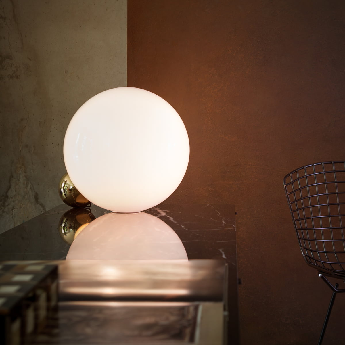 Copycat led table lamp by flos in the shop flos copycat table lamp led gold mozeypictures Choice Image