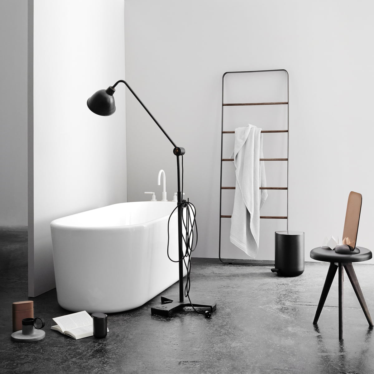 Purist Design For The Bathrooms · Menu   Towel Ladder ...