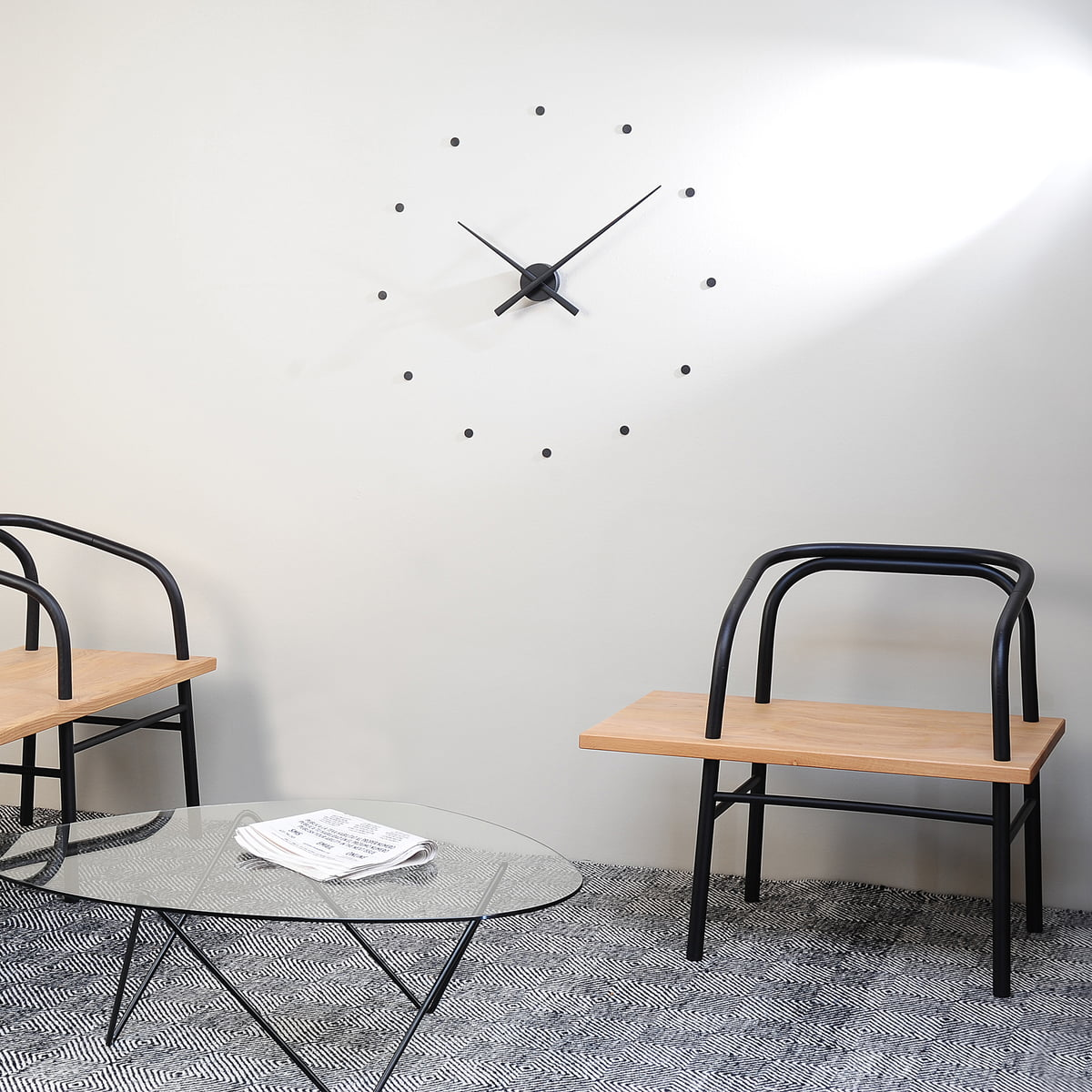 oj wall clock by nomon in the shop. Black Bedroom Furniture Sets. Home Design Ideas