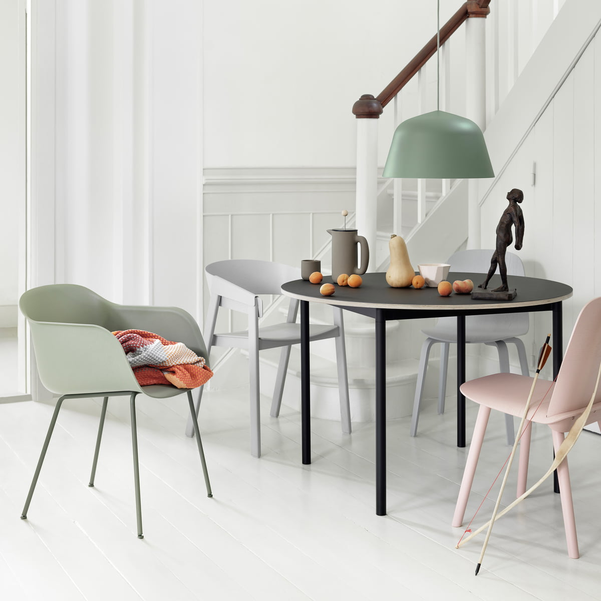 fiber chair tube base by muuto in the shop. Black Bedroom Furniture Sets. Home Design Ideas