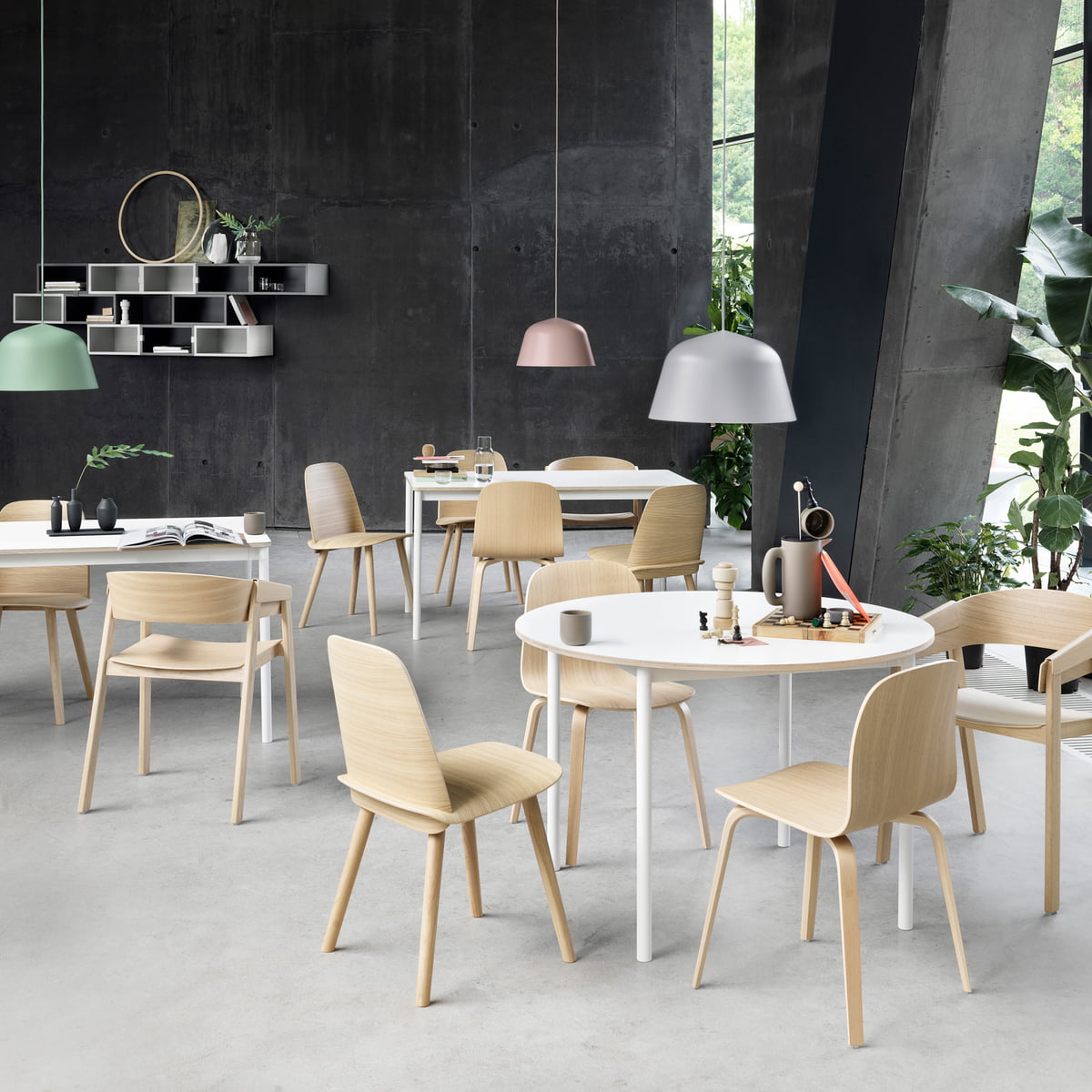 Muuto Base dining table with chairs The