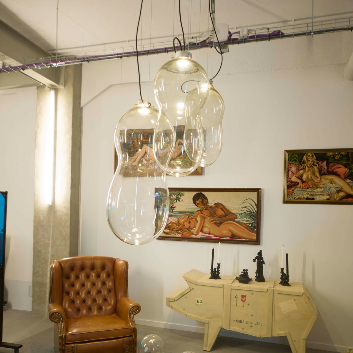 Dark The Baby Bubble Pendant Light Transpa Excl Driver