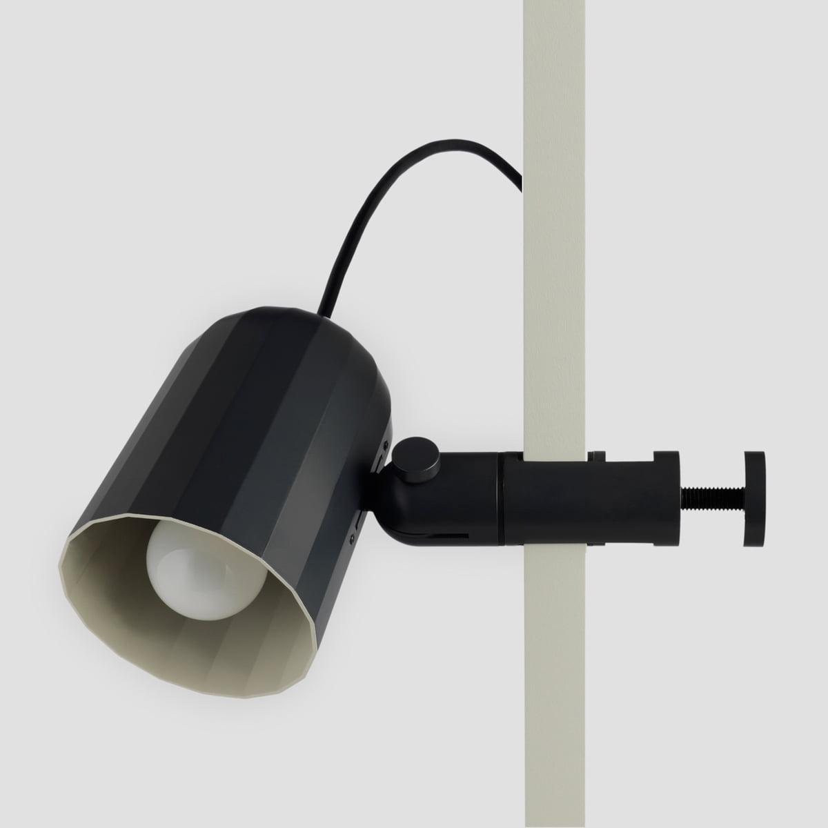 Clamp Lamp In Dark Grey