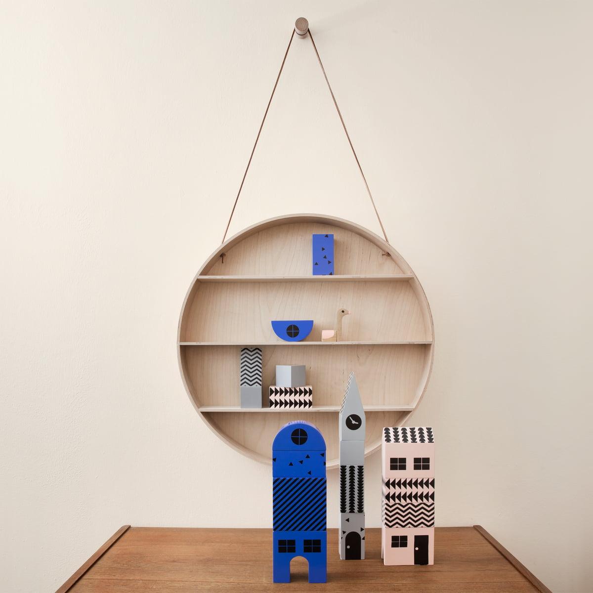 Ferm Living   The Round Dorm Round Shelf