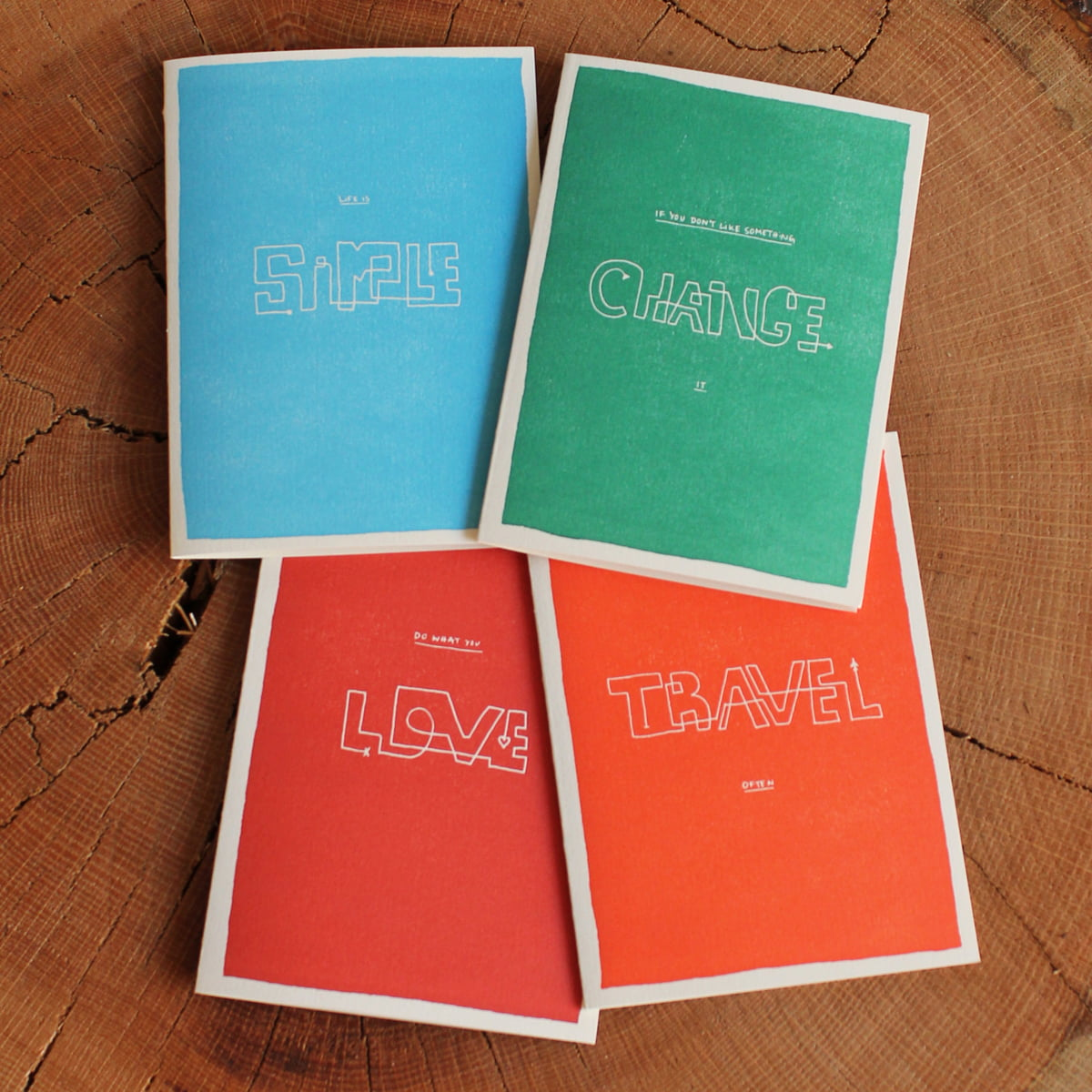 Life is simple greeting cards by holstee color block wisdom greeting cards from holstee kristyandbryce Gallery