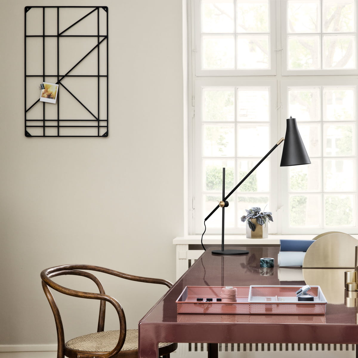 Square Rack With Metal Tray By Ferm Living