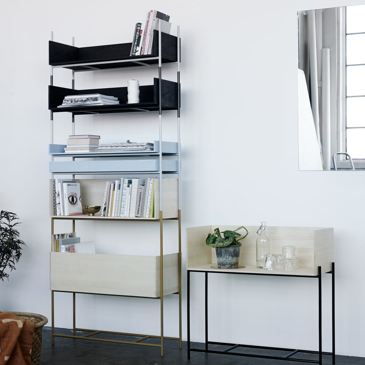 vivlio shelving system by skagerak in the shop. Black Bedroom Furniture Sets. Home Design Ideas