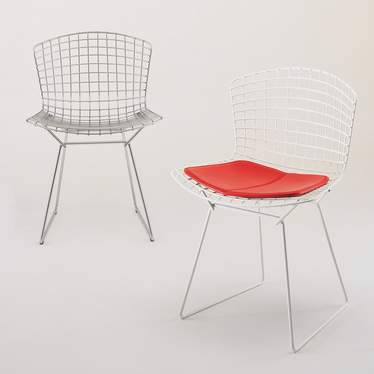 Superb Bertoia Steel Wire Chair With Cushion