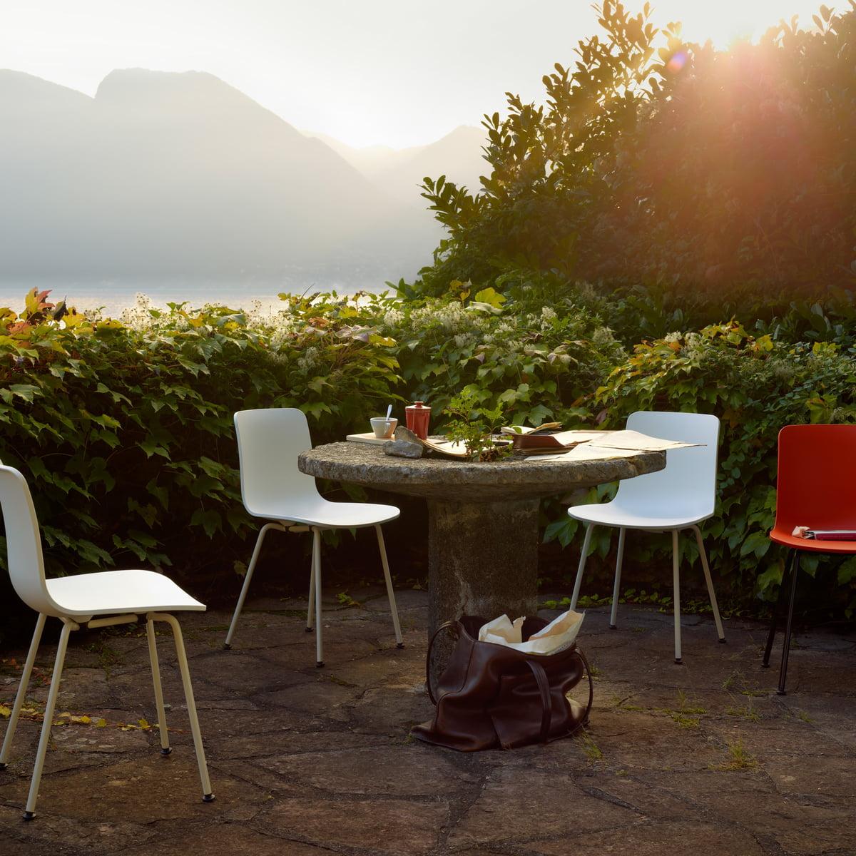 Vitra - Hal Tube chair, white / chrome
