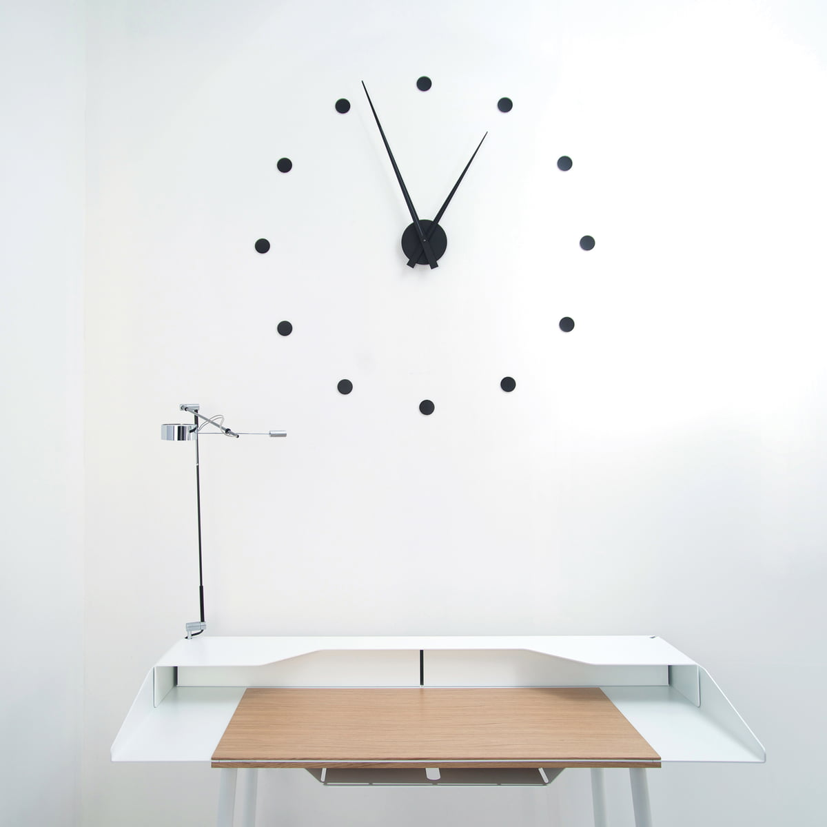 The flexible wall clock by radius design radius design flexible wall clock black amipublicfo Choice Image