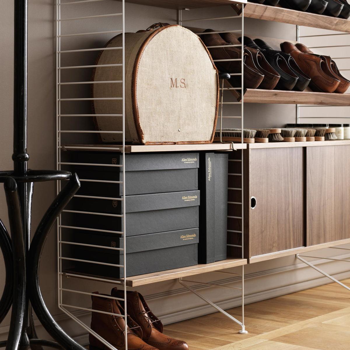 buy the string pocket shelf connox shop. Black Bedroom Furniture Sets. Home Design Ideas