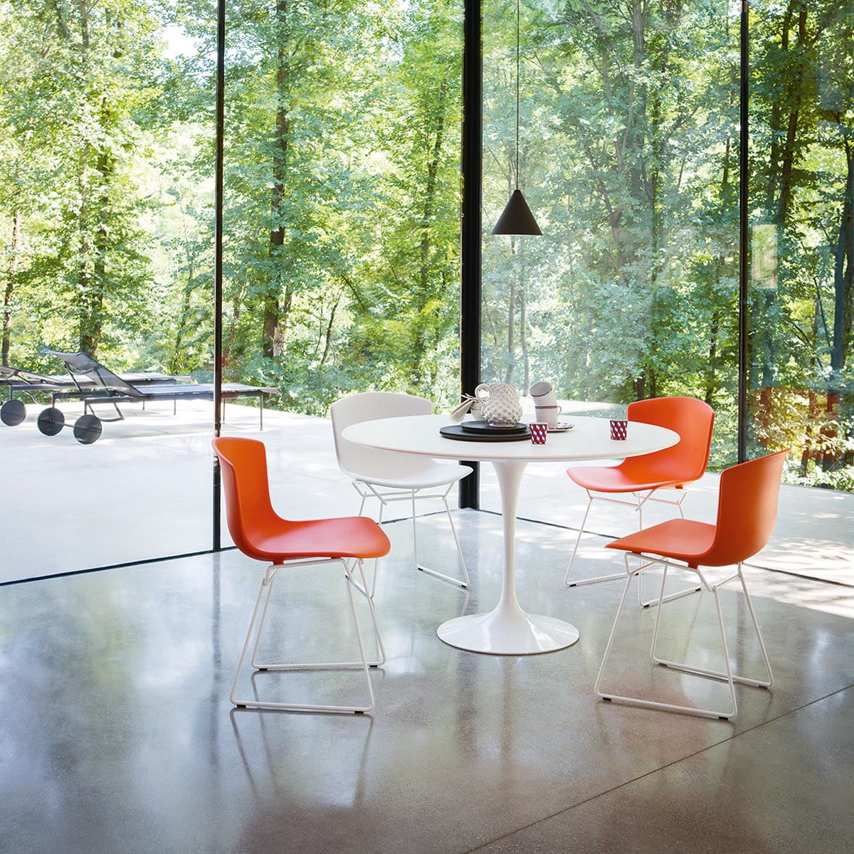 Bertoia Plastic Chair By Knoll In The Shop