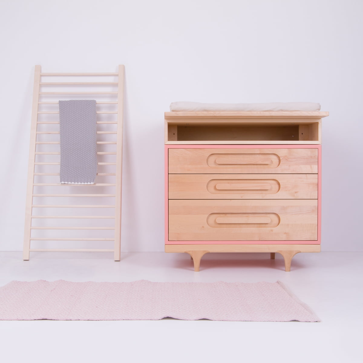 bambino april home wardrobe bedside drawers princess pink chest product gloss drawer of