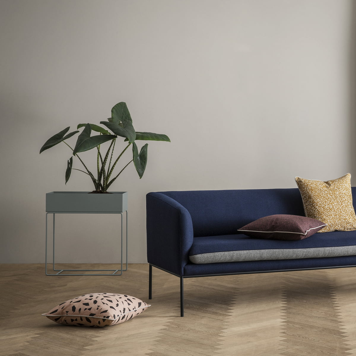 plant box with cushion by ferm living. plant box by ferm living in the shop