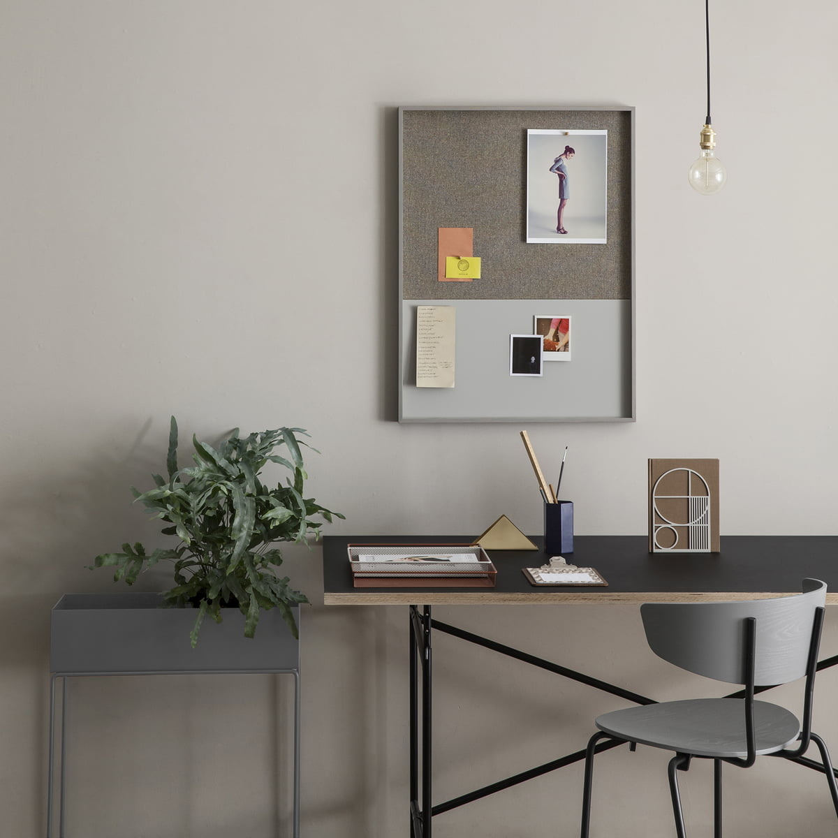frame pin board by ferm living in the shop. Black Bedroom Furniture Sets. Home Design Ideas