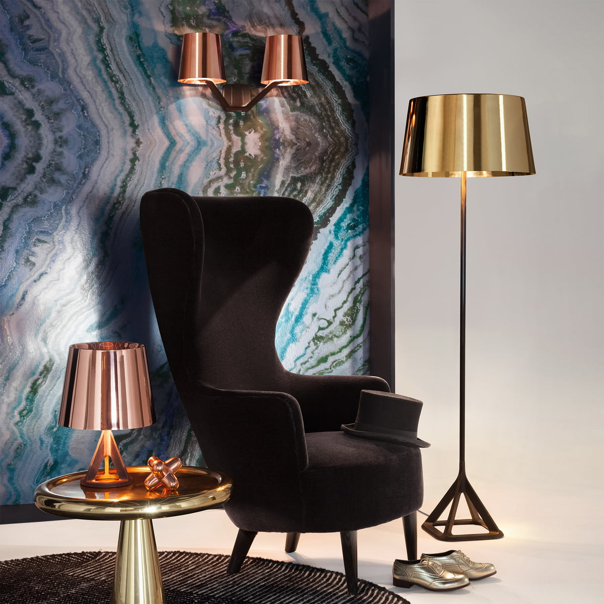 Base wall light tom dixon shop base collection by tom dixon with wingback armchair mozeypictures Gallery