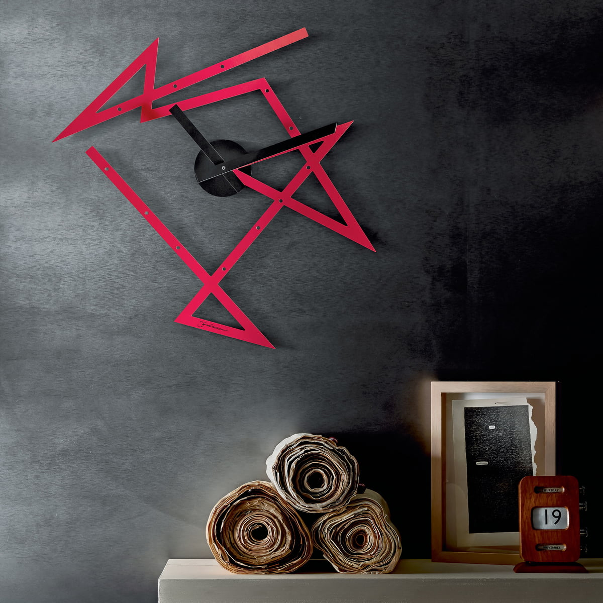 time maze wall clock by alessi in the shop. Black Bedroom Furniture Sets. Home Design Ideas