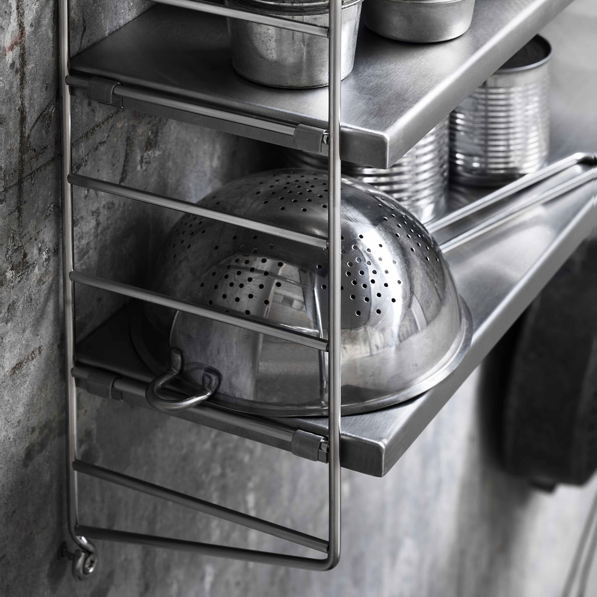 Cool Wall Shelf For Outdoor And Indoor Use With String Regal Wei