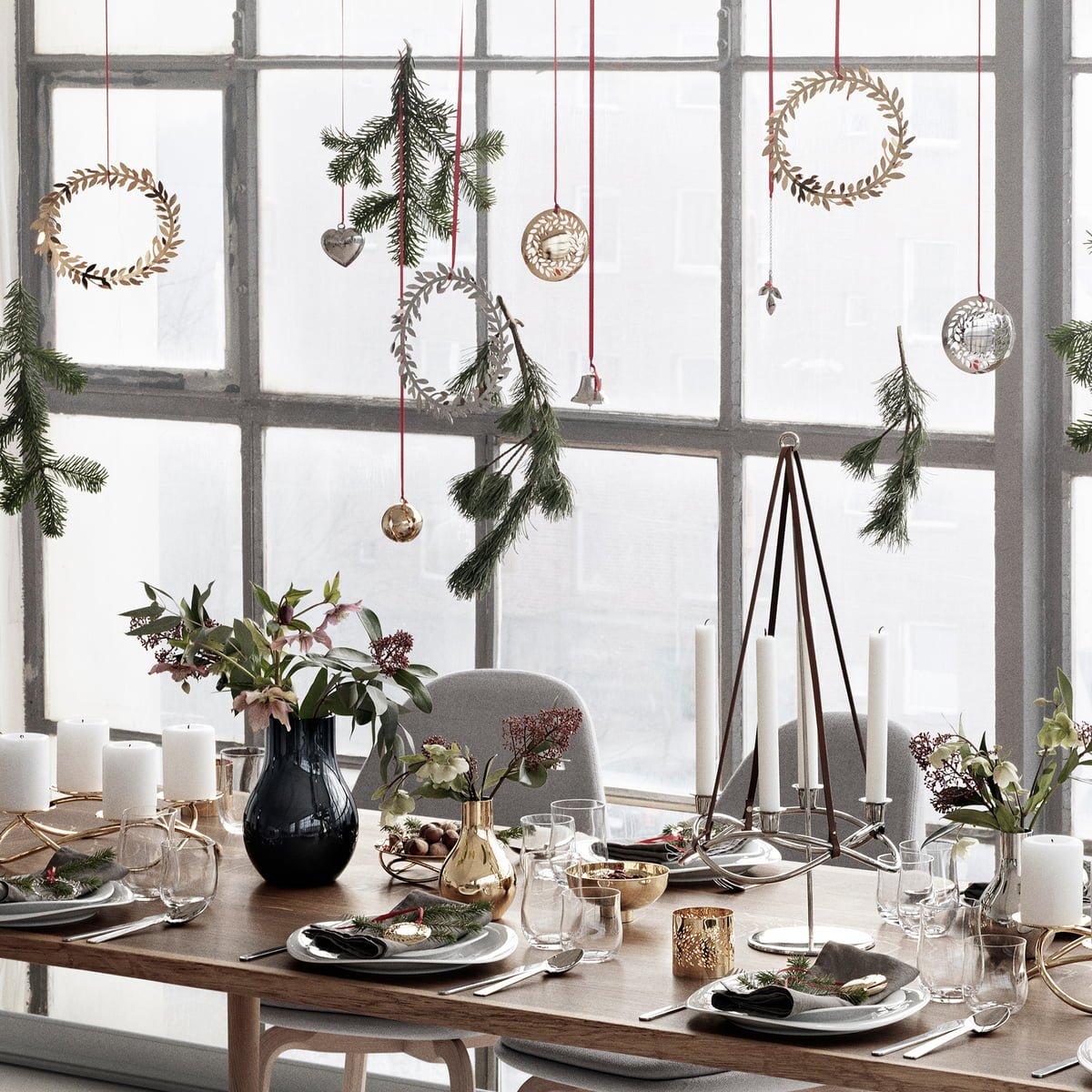 christmas mobile wreath by georg jensen. Black Bedroom Furniture Sets. Home Design Ideas