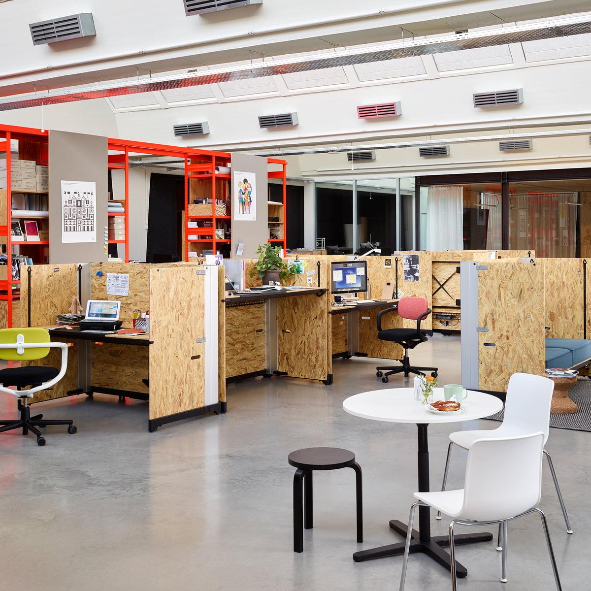 Schreibtisch modern  Vitra - Hack Schreibtisch, Schnellverstellung