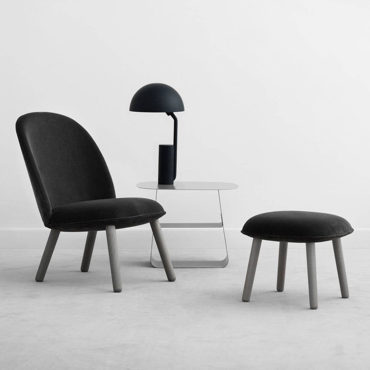 ace lounge chair velour by normann copenhagen