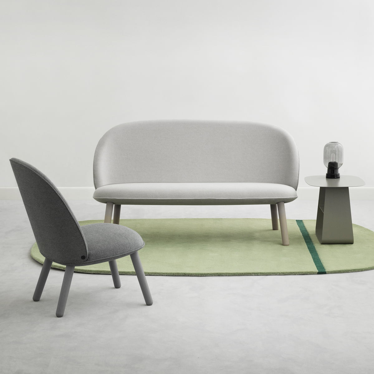 Normann Copenhagen Ace Sofa Nist Beige Lounge Chair Grey
