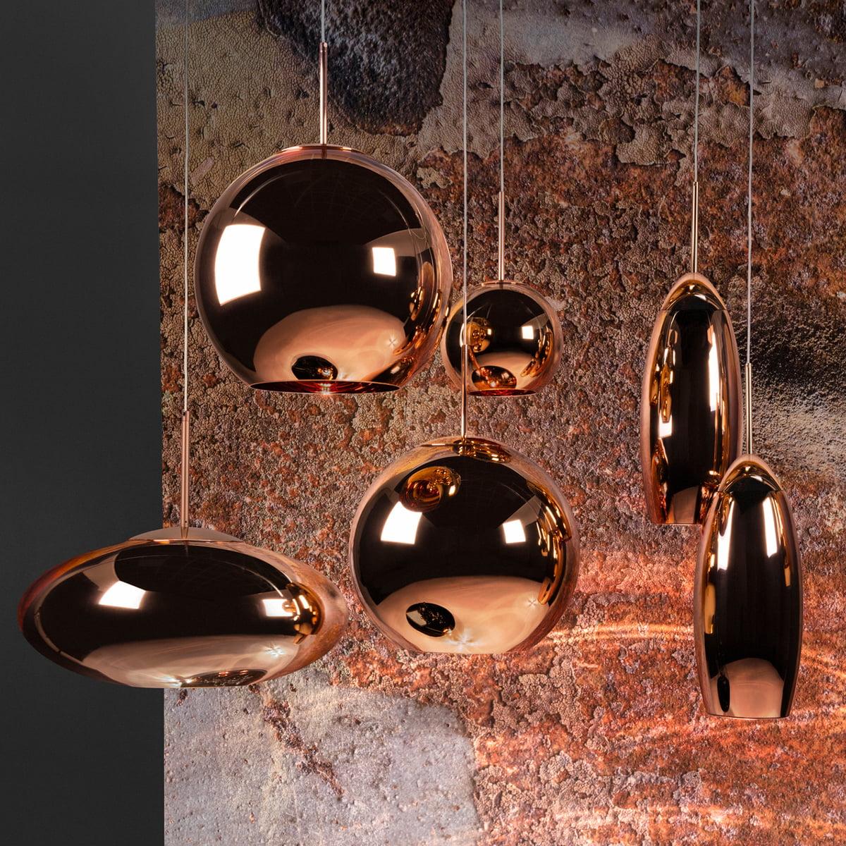 Copper tall pendant lamp by tom dixon tom dixon copper pendant luminaire aloadofball Gallery