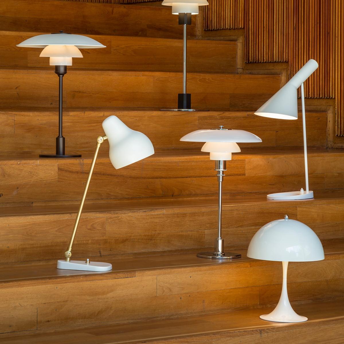 Panthella mini table lamp by louis poulsen white design table lamps by louis poulsen aloadofball Images