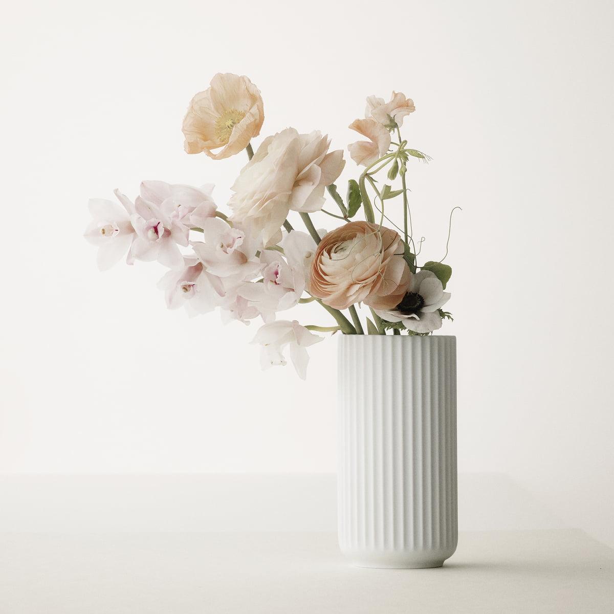 Lyngby Porcelæn Vase White Matt