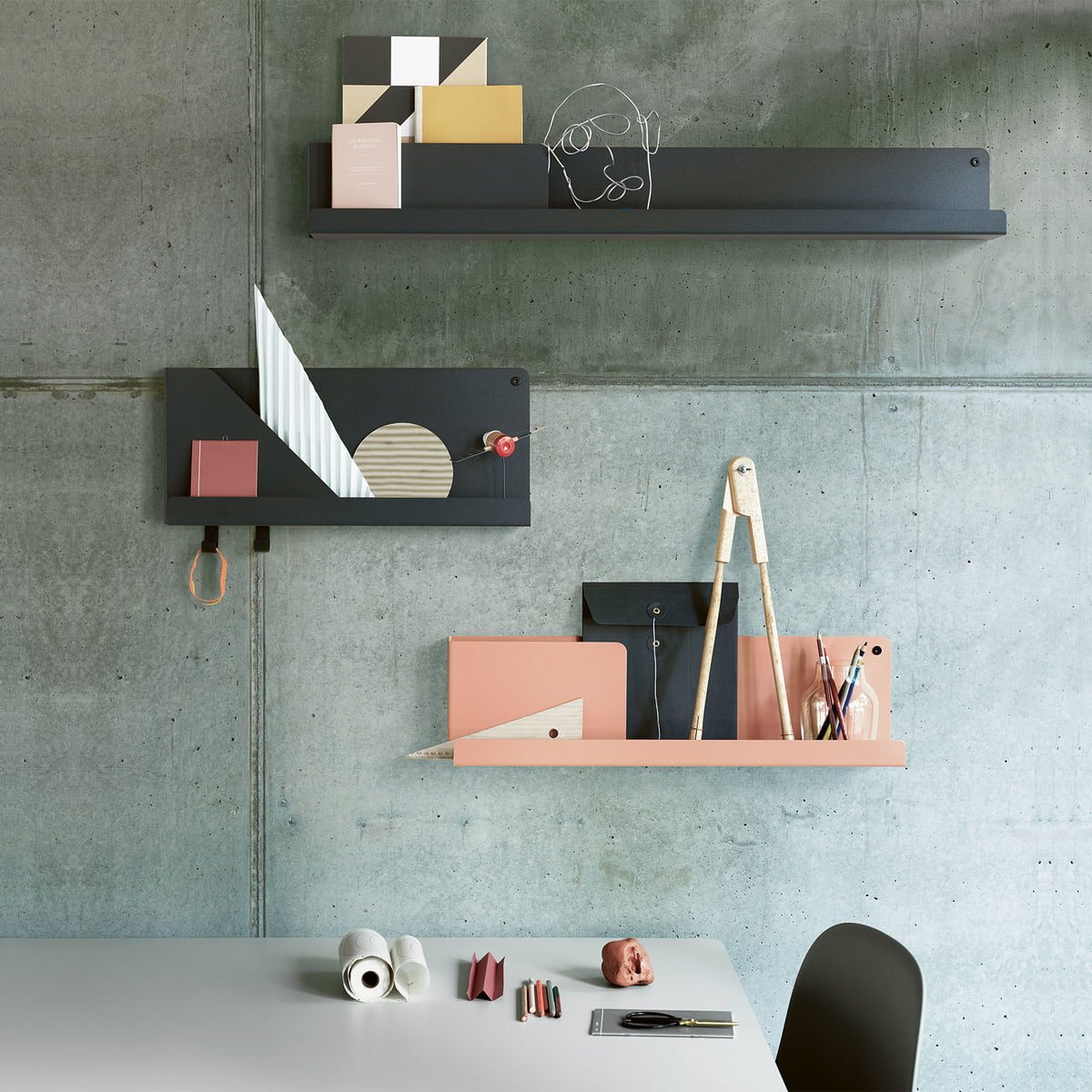 Folded Shelf For The Modern Office