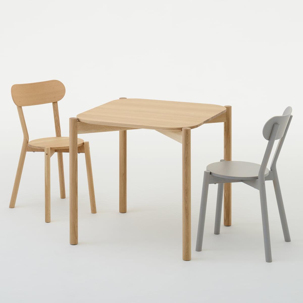 Karimoku new standard castor table castor chair
