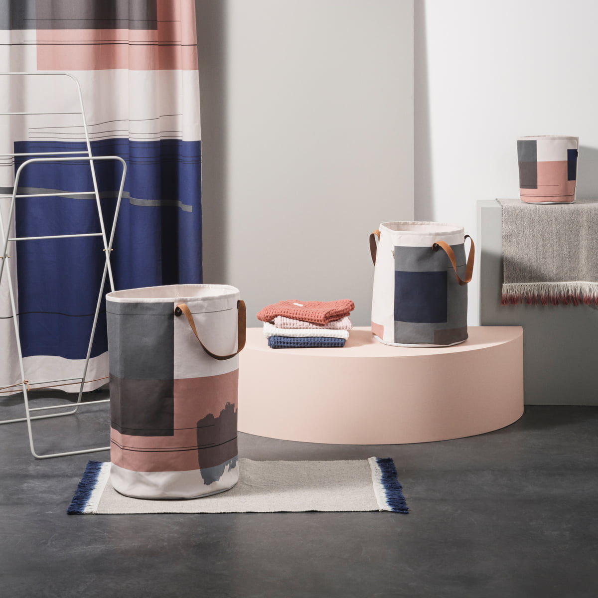 Colour Block Series by ferm Living with Dip MatColour Block Throw by ferm Living in the shop. Ferm Living Basket Uk. Home Design Ideas