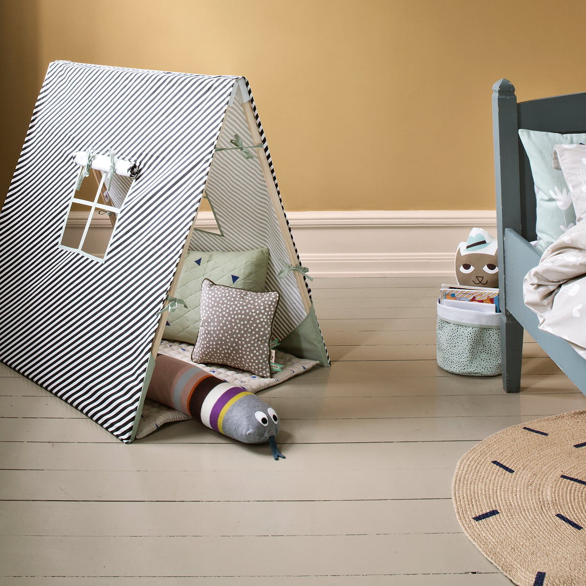 kids tent by ferm living shop. Black Bedroom Furniture Sets. Home Design Ideas