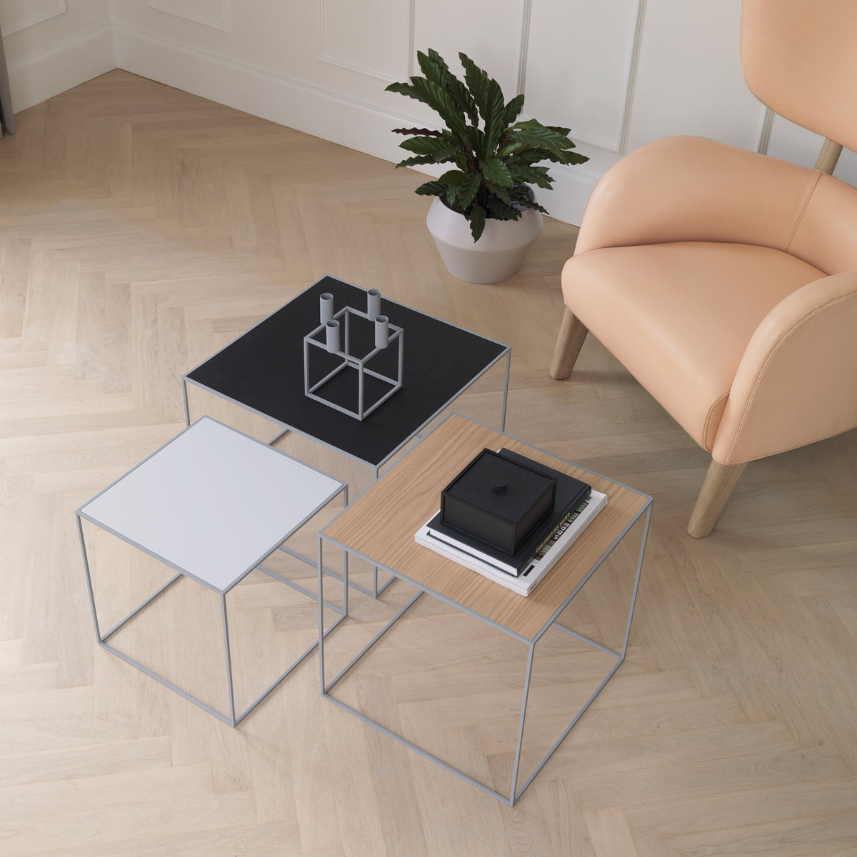 Twin Side Table From By Lassen