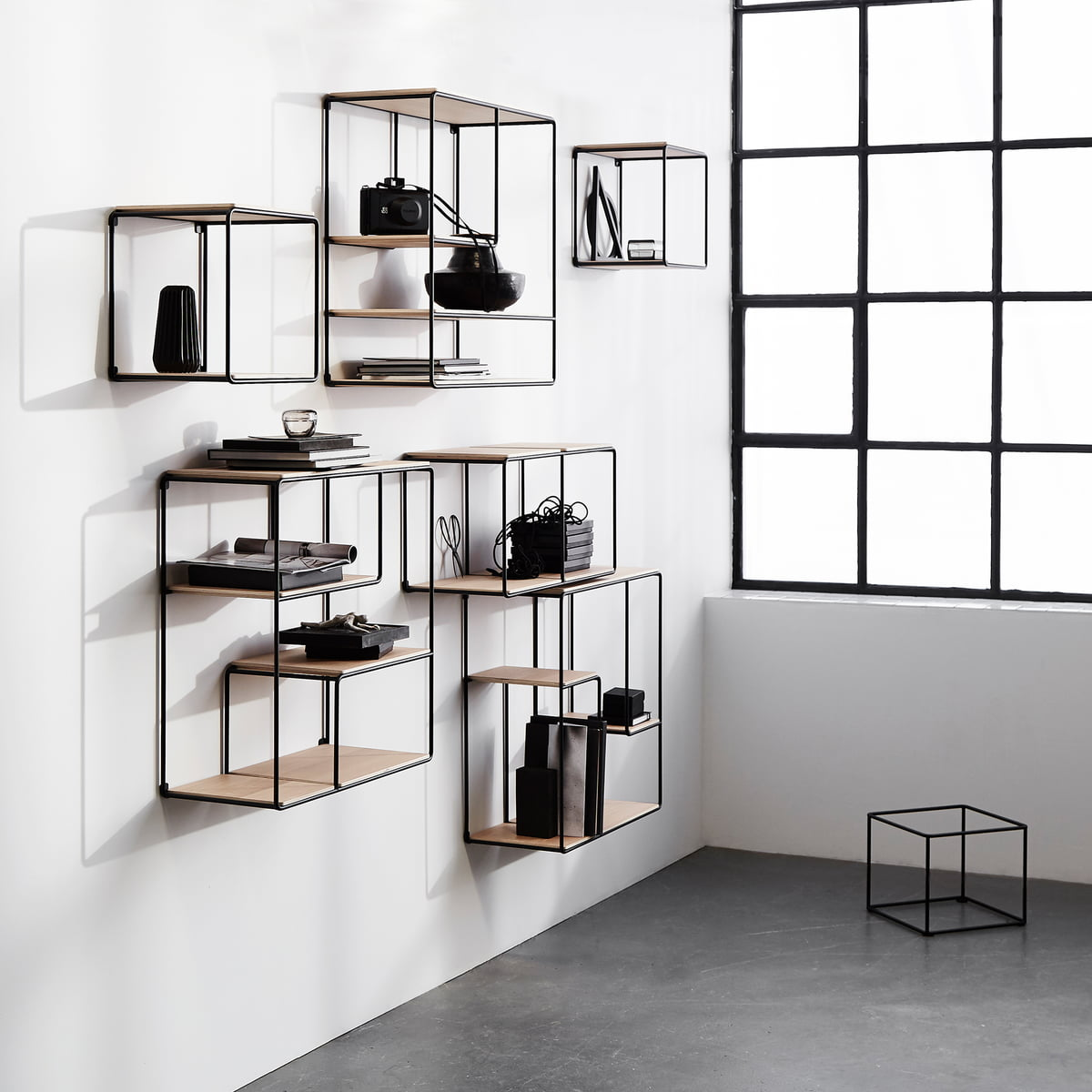 anywhere 1x2 wall shelf by korridor connox. Black Bedroom Furniture Sets. Home Design Ideas