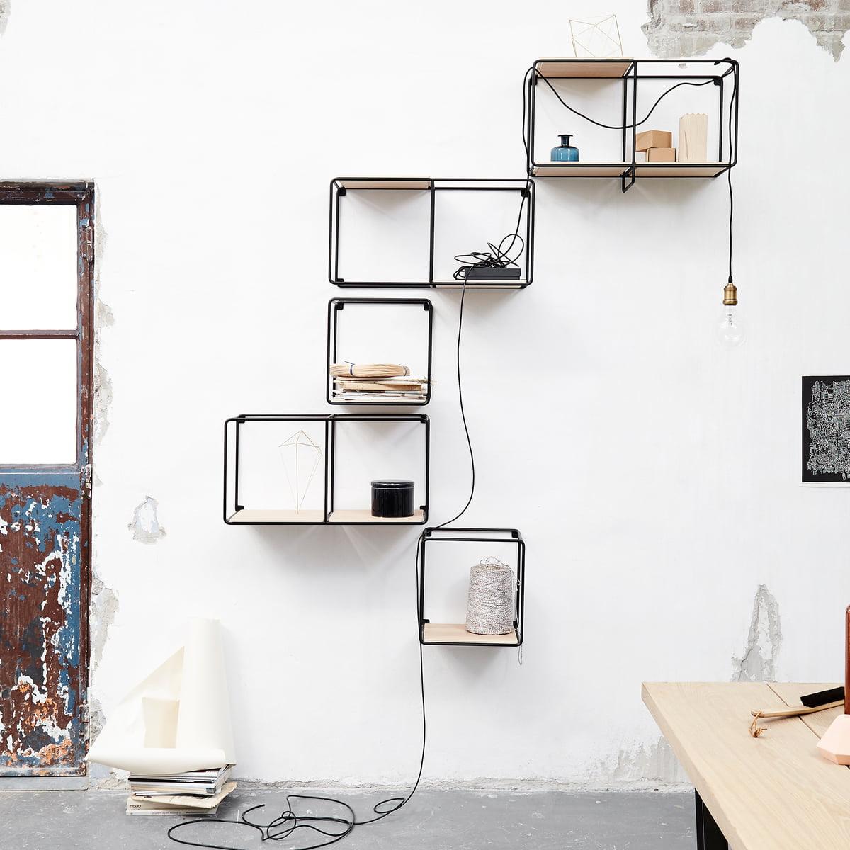 Anywhere 1x1 wall shelf by korridor connox for Garderobe schwarz